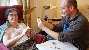 Residents get crafty at Evercreech care home